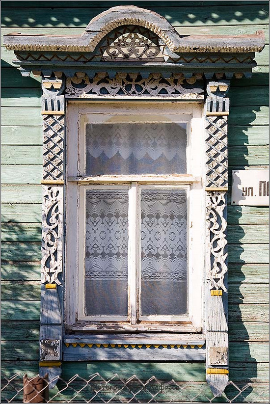 Kostroma city, Russia windows frames view 32
