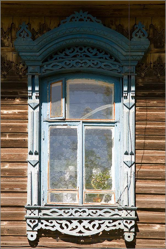 Kostroma city, Russia windows frames view 4