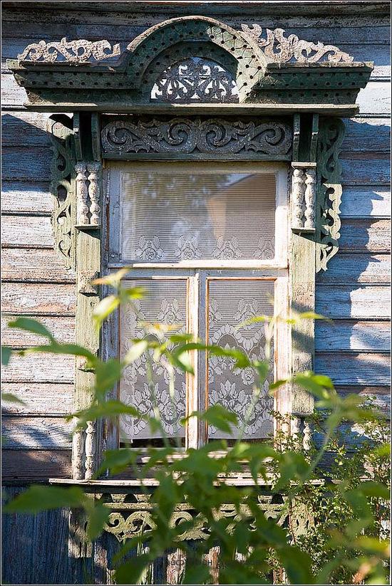 Kostroma city, Russia windows frames view 5