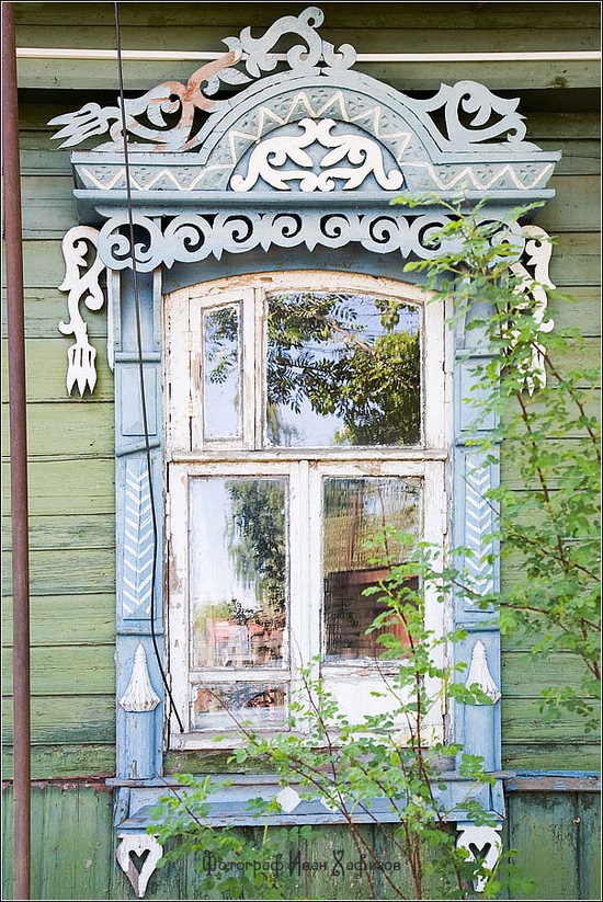 Kostroma city, Russia windows frames view 6