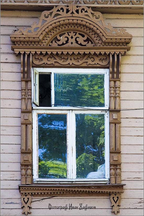 Kostroma city, Russia windows frames view 7