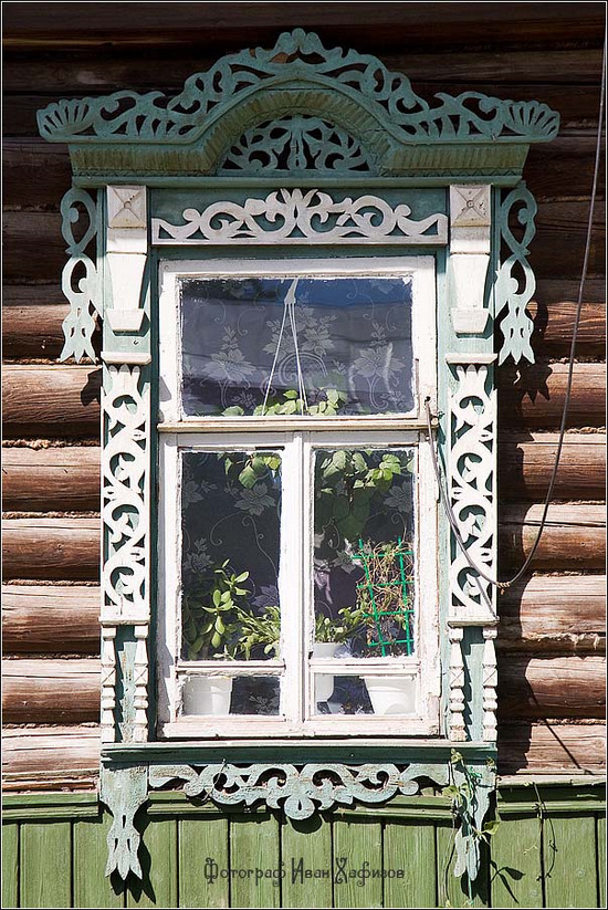 Kostroma city, Russia windows frames view 8