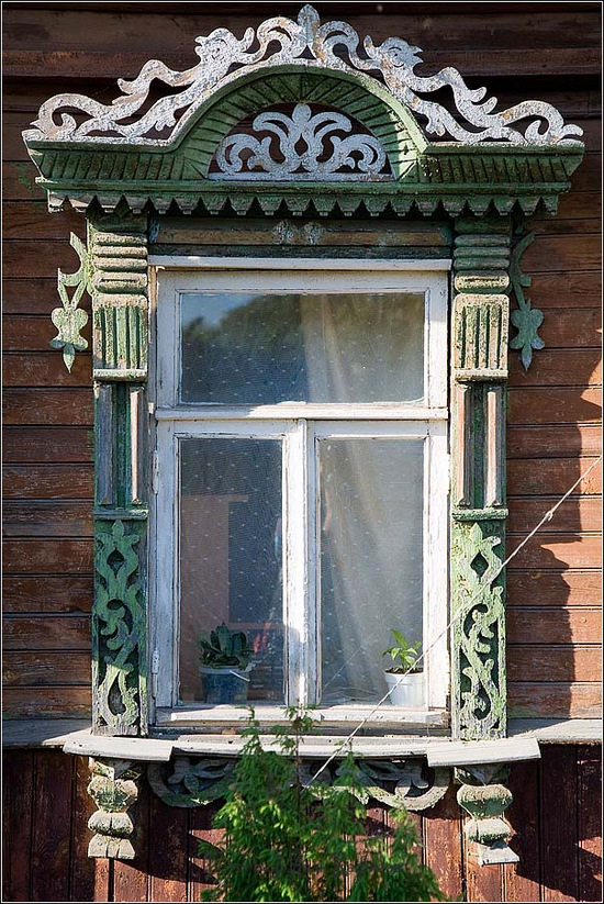 Kostroma city, Russia windows frames view 9