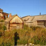 Wooden houses of Kovda village