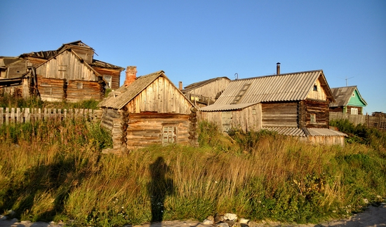 Kovda village, Russia wooden houses view 1