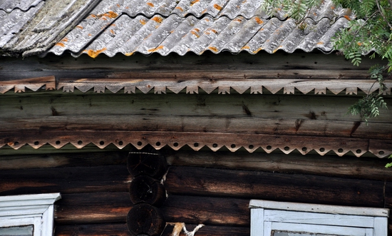 Kovda village, Russia wooden houses view 13