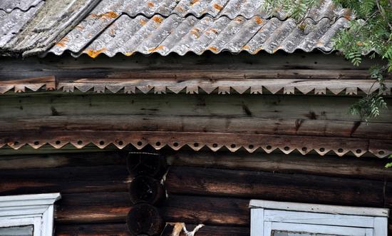 Kovda village, Russia wooden houses view 13