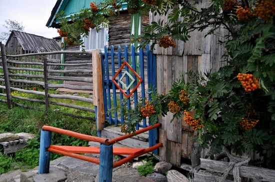 Kovda village, Russia wooden houses view 17