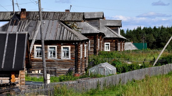 Kovda village, Russia wooden houses view 20