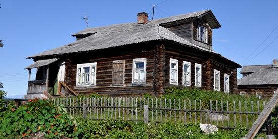 Kovda village, Russia wooden houses view 21