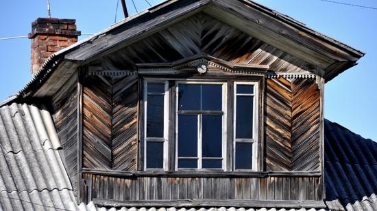 Kovda village, Russia wooden houses view 22