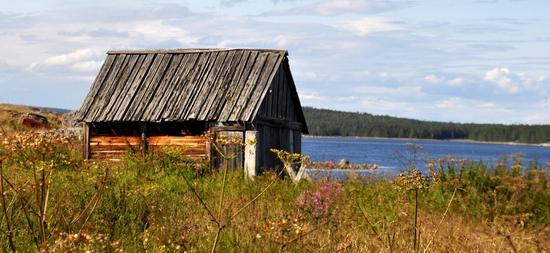 Kovda village, Russia wooden houses view 23