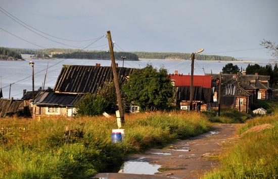 Kovda village, Russia wooden houses view 24