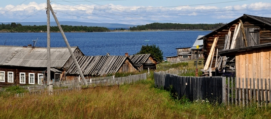 Kovda village, Russia wooden houses view 25