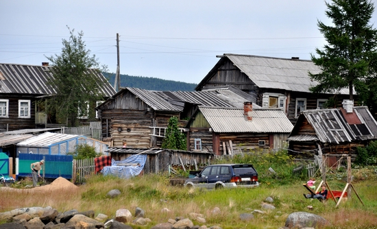 Kovda village, Russia wooden houses view 26