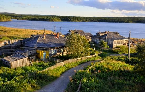 Kovda village, Russia wooden houses view 6