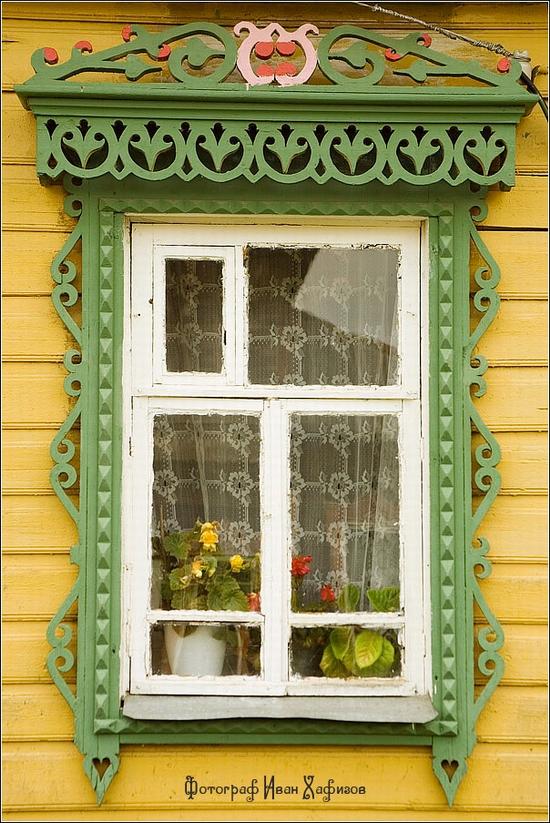 Myshkin town, Russia windows frames view 11
