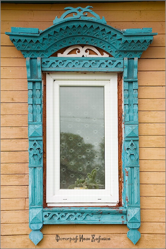 myshkin town russia windows frames view 12