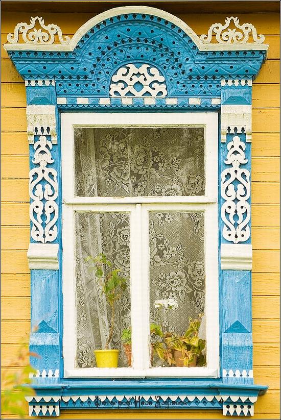 Myshkin town, Russia windows frames view 14