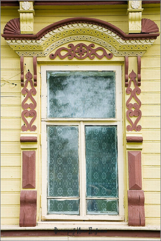 Myshkin town, Russia windows frames view 16
