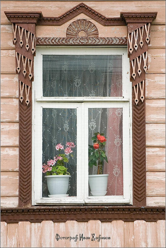 Myshkin town, Russia windows frames view 17