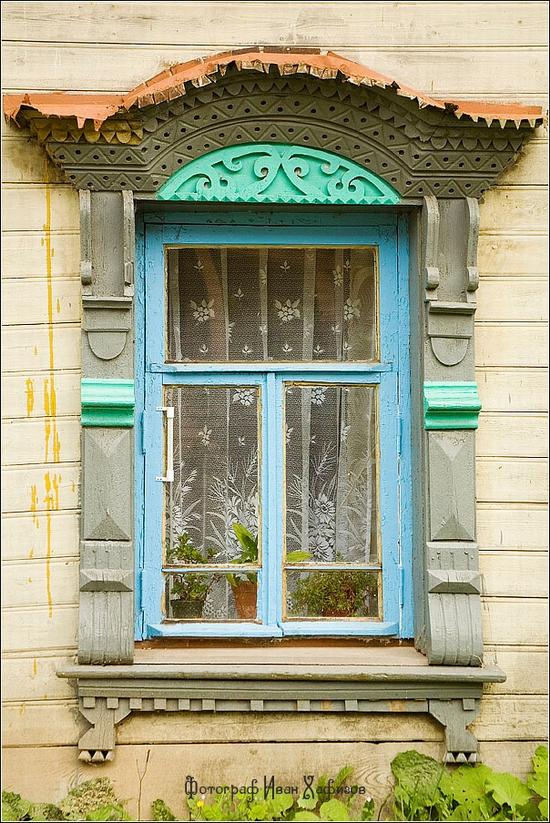 Myshkin town, Russia windows frames view 18