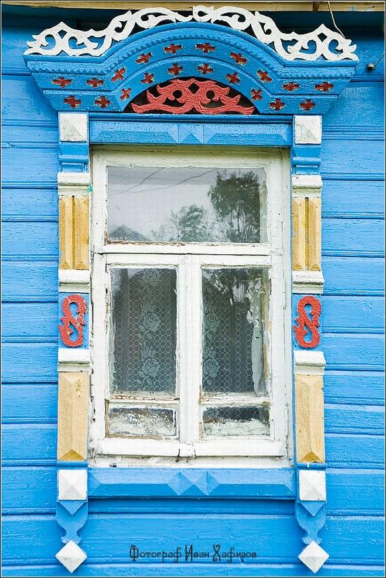 Myshkin town, Russia windows frames view 19