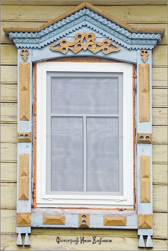 Myshkin town, Russia windows frames view 2
