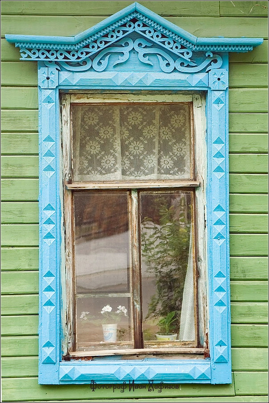Myshkin town, Russia windows frames view 21