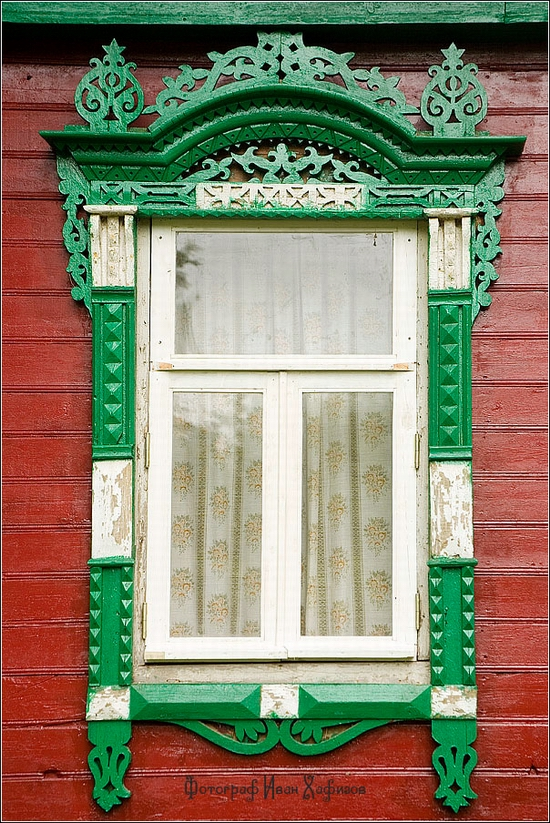 Myshkin town, Russia windows frames view 23