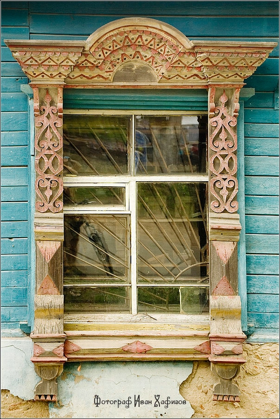 Myshkin town, Russia windows frames view 3
