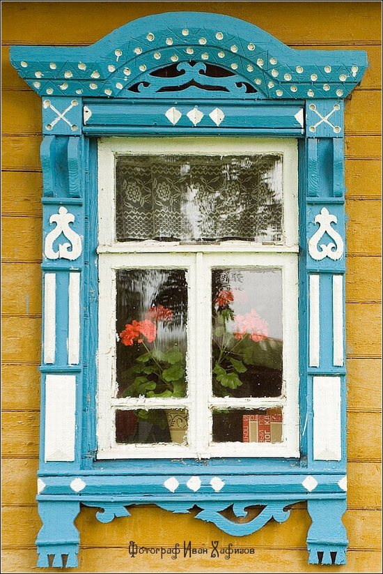 Myshkin town, Russia windows frames view 30