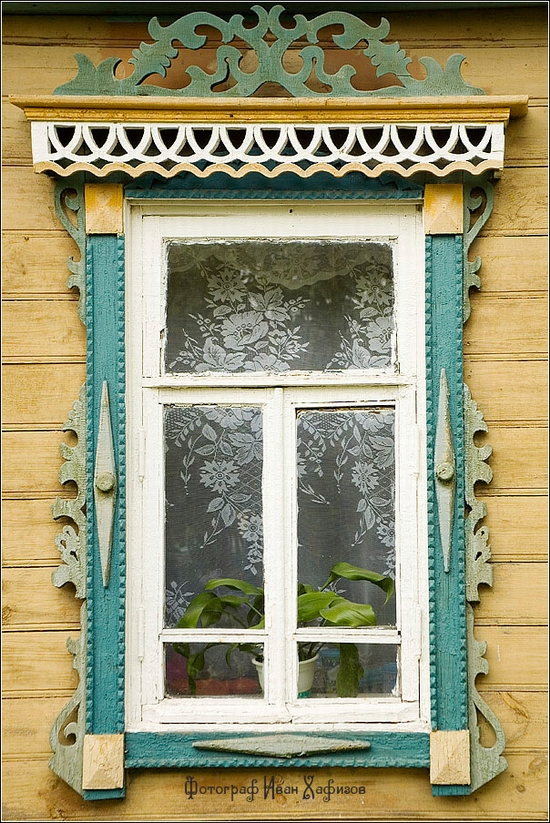 Myshkin town, Russia windows frames view 31