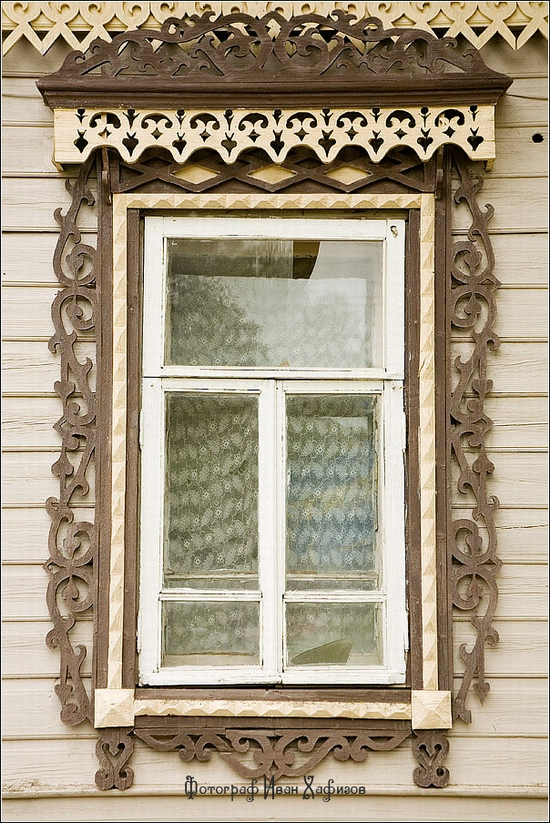 Myshkin town, Russia windows frames view 32