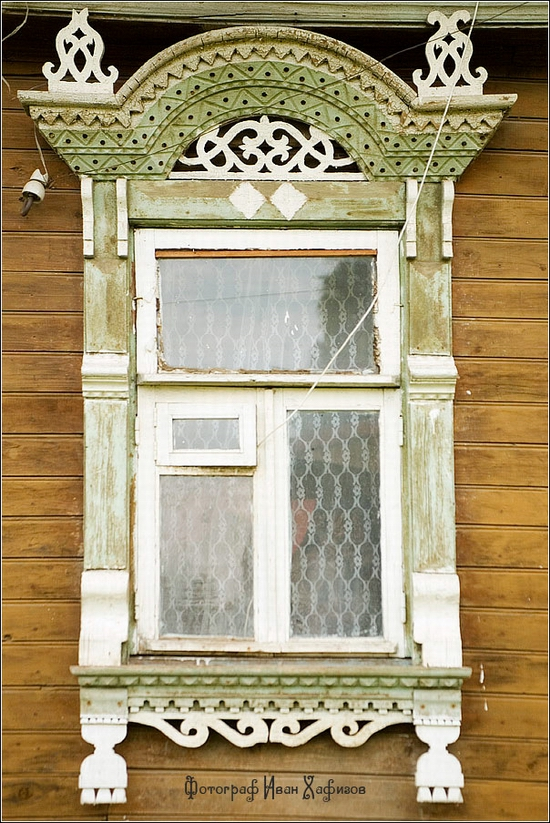 Myshkin town, Russia windows frames view 6