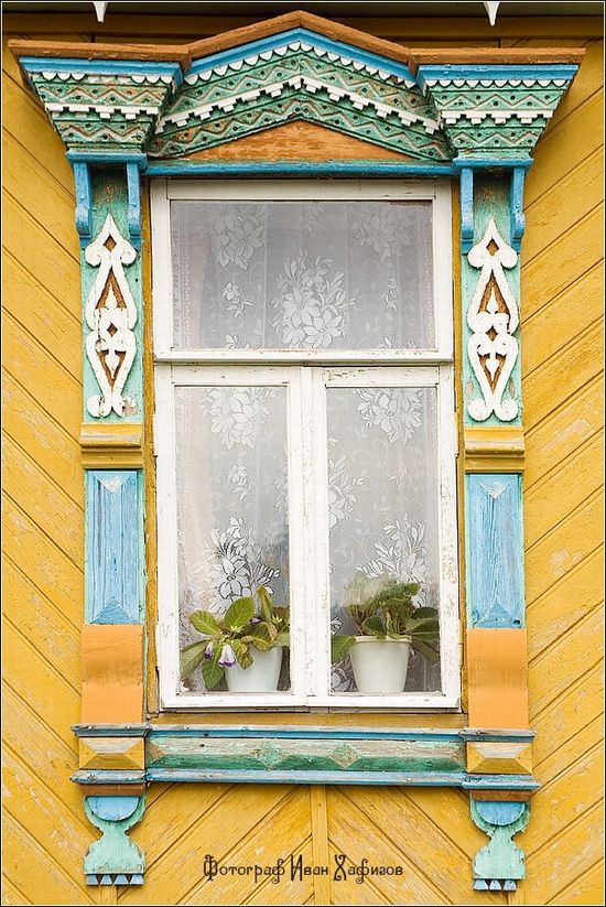 Myshkin town, Russia windows frames view 7