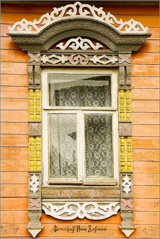 Myshkin town, Russia windows frames view 8