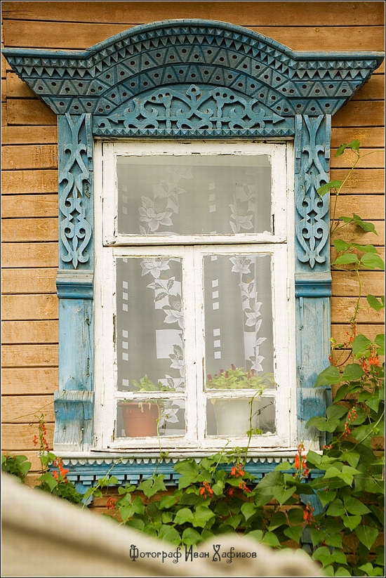 Myshkin town, Russia windows frames view 9