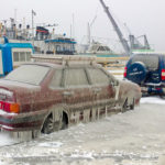 Winter has suddenly come to Petrozavodsk city