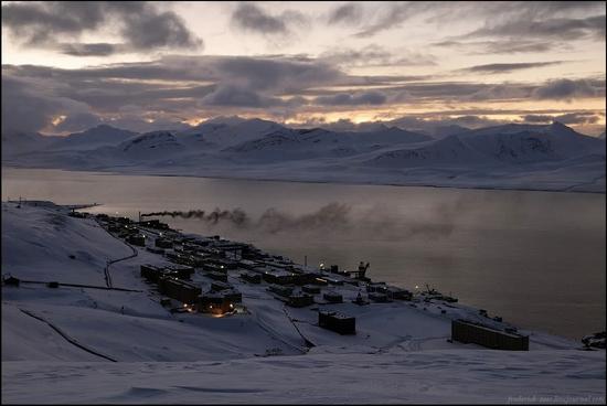 Russian Shpitsbergen winter landscape 1