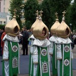 Orthodox style gold-domed costumes