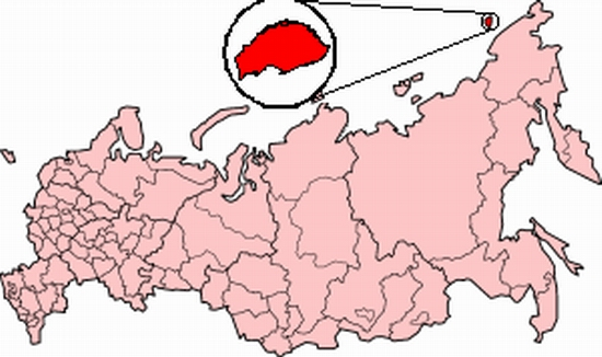 Wrangel Island, Russia map location