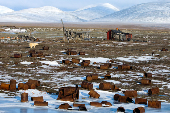 Wrangel Island, Russia pollution view 1