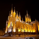 Picturesque Catholic Cathedral of Moscow city