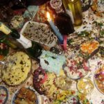 Russian New Year feast and confetti petard fail