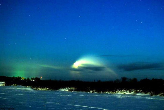 Russian space rocket launch view 3