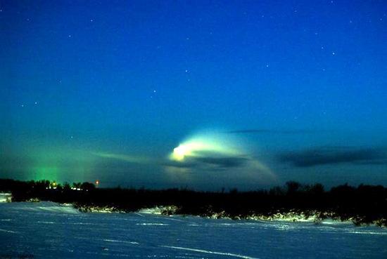 Russian space rocket launch view 3