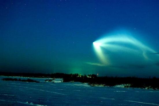 Russian space rocket launch view 5