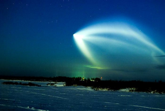 Russian space rocket launch view 6