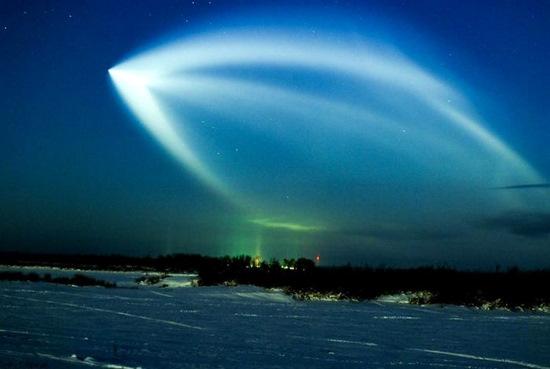 Russian space rocket launch view 7